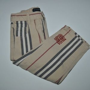Toddler Burberry Striped Pants, Size 2